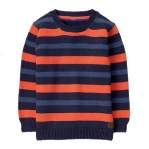 Janie & Jack Boys Striped Crewneck Sweater 5T
